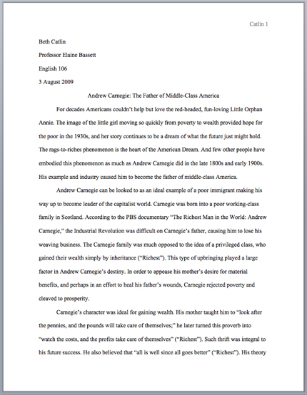 sample research paper format